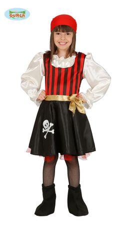 Piratin Kleid Kostüm für Mädchen Gr. 98-146