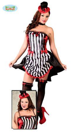 Sexy Burlesque Saloon Girl Kostüm für Damen Gr. S/M