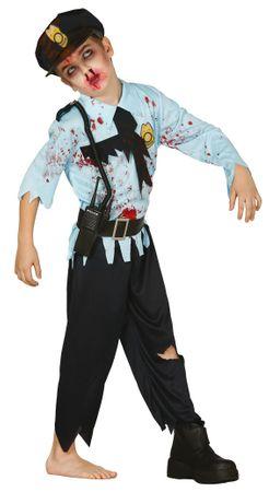 Zombie Polizist Kostüm für Jungen