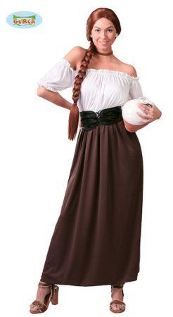 Wirtin Mittelalter schulterfreies Kostüm für Damen Gr. M-L