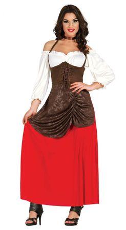Wirtin aus dem Mittelalter - Kostüm für Damen Gr. S - XL