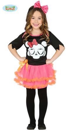 Süßes Skelett Kleid für Mädchen Gr. 98-146