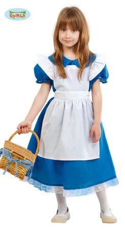 blaues Märchen Kleid - Kostüm für Mädchen Gr. 110 - 146