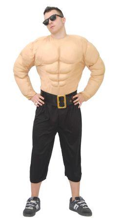 Muskelmann - Kostüm für Männer Gr. M/L