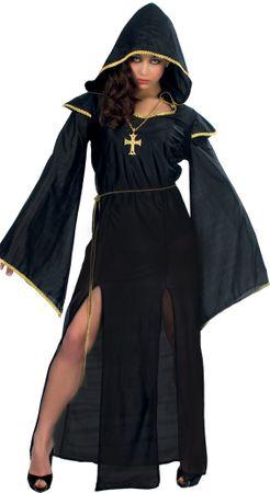 schwarze Priester Kostüm für Damen Gr. M-L