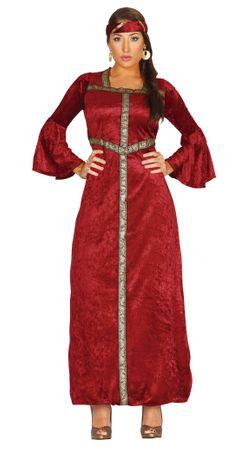 rotes Renaissance Prinzessin Kostüm für Damen in Gr. M-XL