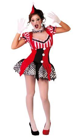 sexy kurzes Clown Kostüm für Damen Gr. S - M