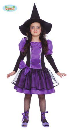 Lila Hexen Kleid für Mädchen Gr. 110-146