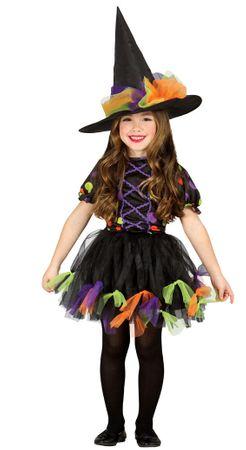 buntes kurzes Kinder Hexen Kleid Hexenkostüm Gr. 98-146
