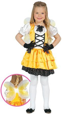 gelber Schmetterling - Kostüm für Mädchen Gr. 98 - 134