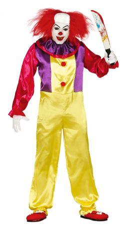 Killer Clown Kostüm für Herren Gr. M/L