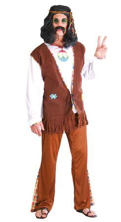 Hippie Flower Power Kostüm für Herren in Gr. M - L