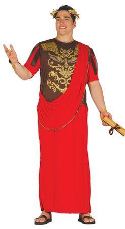 Römischer Senator Herrenkostüm rot Römer Herren Kostüm