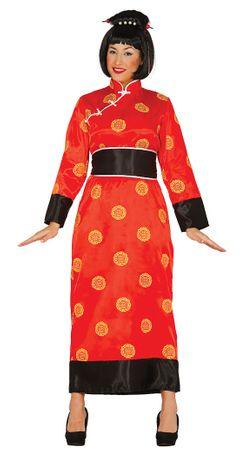 Kimono China rotes Damen Kostüm in Gr. M  - L