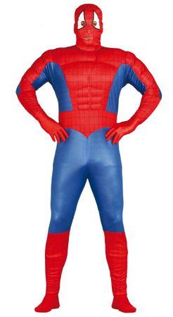 Spinnen Superheld mit Muskeln - Kostüm für Herren Gr. M-XL