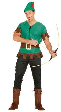 Bogenschütze Kostüm für Herren Robin Held grün Pfeil Hood Jäger Herrenkostüm M - L