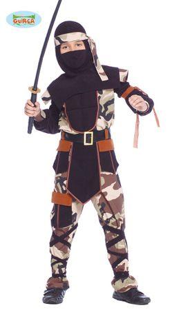 Ninja Kämpfer - Kostüm für Kinder Gr. 110 - 146