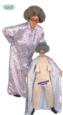 nackte Oma Kostüm für Erwachsene Gr. M - L