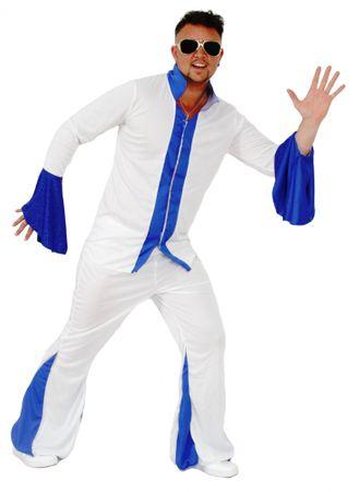 cooler 70er Jahre Disco Anzug für Herren Gr. M - XXL