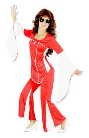 70er Jahre Disco Anzug für Damen Gr. S - XXL