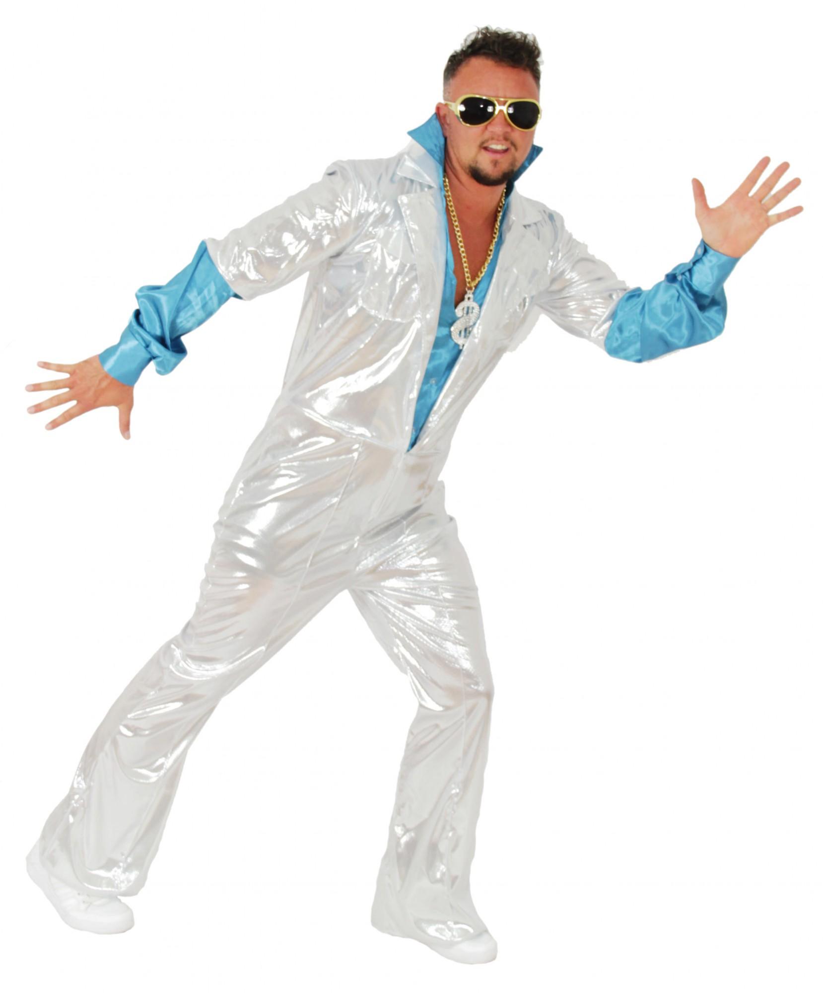 70er Jahre Disco Anzug für Herren Gr. M XXL