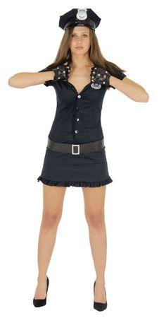 Sexy Polizistin Kostüm für Damen Gr. XS - L