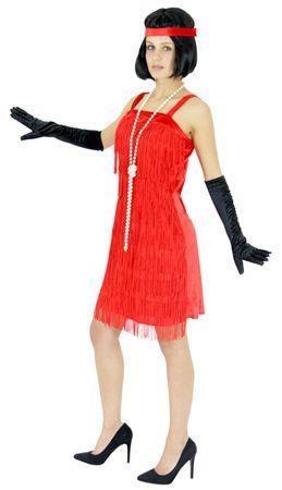 20er Jahre Charleston Kostüm in rot für Damen Gr. S - XXL