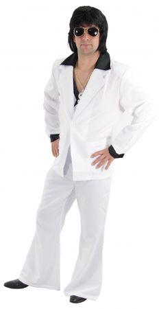 cooler 80er Jahre Disco Anzug weiß für Herren Gr. M - XXL