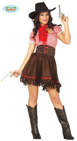 sexy Cowgirl Kostüm für Damen Gr. XS/S - M
