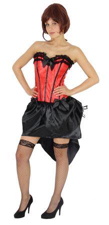 Burlesque Tänzerin, rot-schwarz