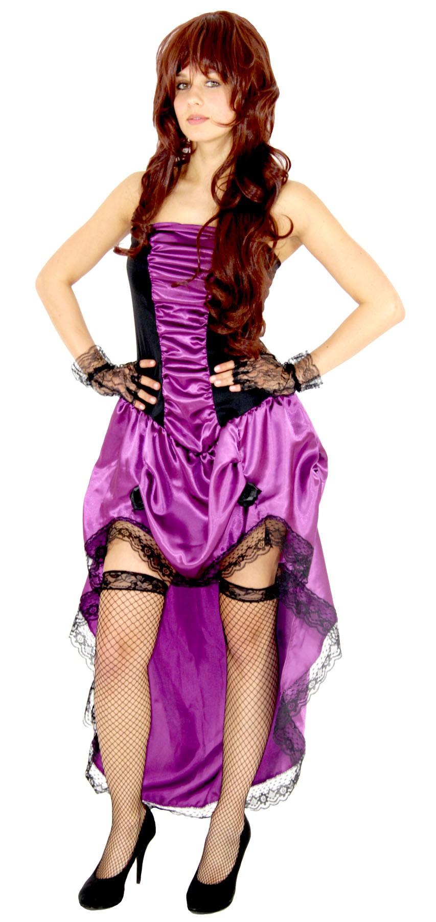Lila Sexy Burlesque Kostum Fur Damen Kleid Mit Kleid Zu Fasching Und