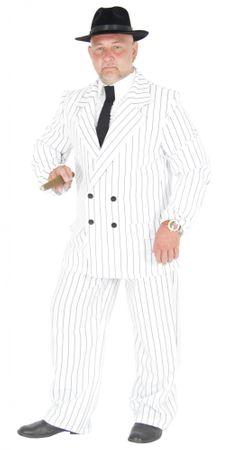 weißer 20er Jahre Gangster Anzug Kostüm Herren Gr. S - XL