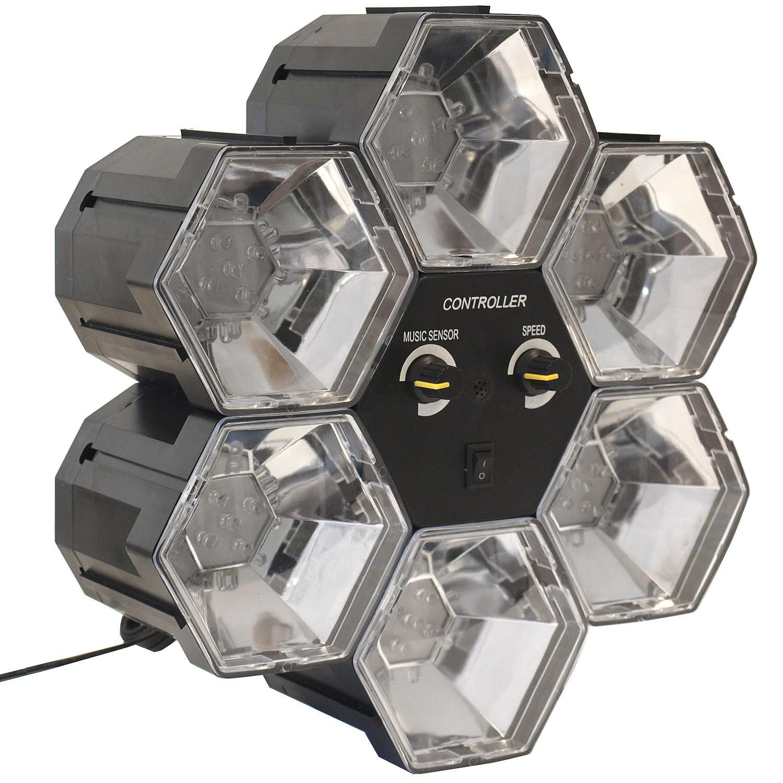 6 kanal led lichtorgel 30 leds wohnen beleuchtung for Koch 4 kanal led funkfernsteuerung