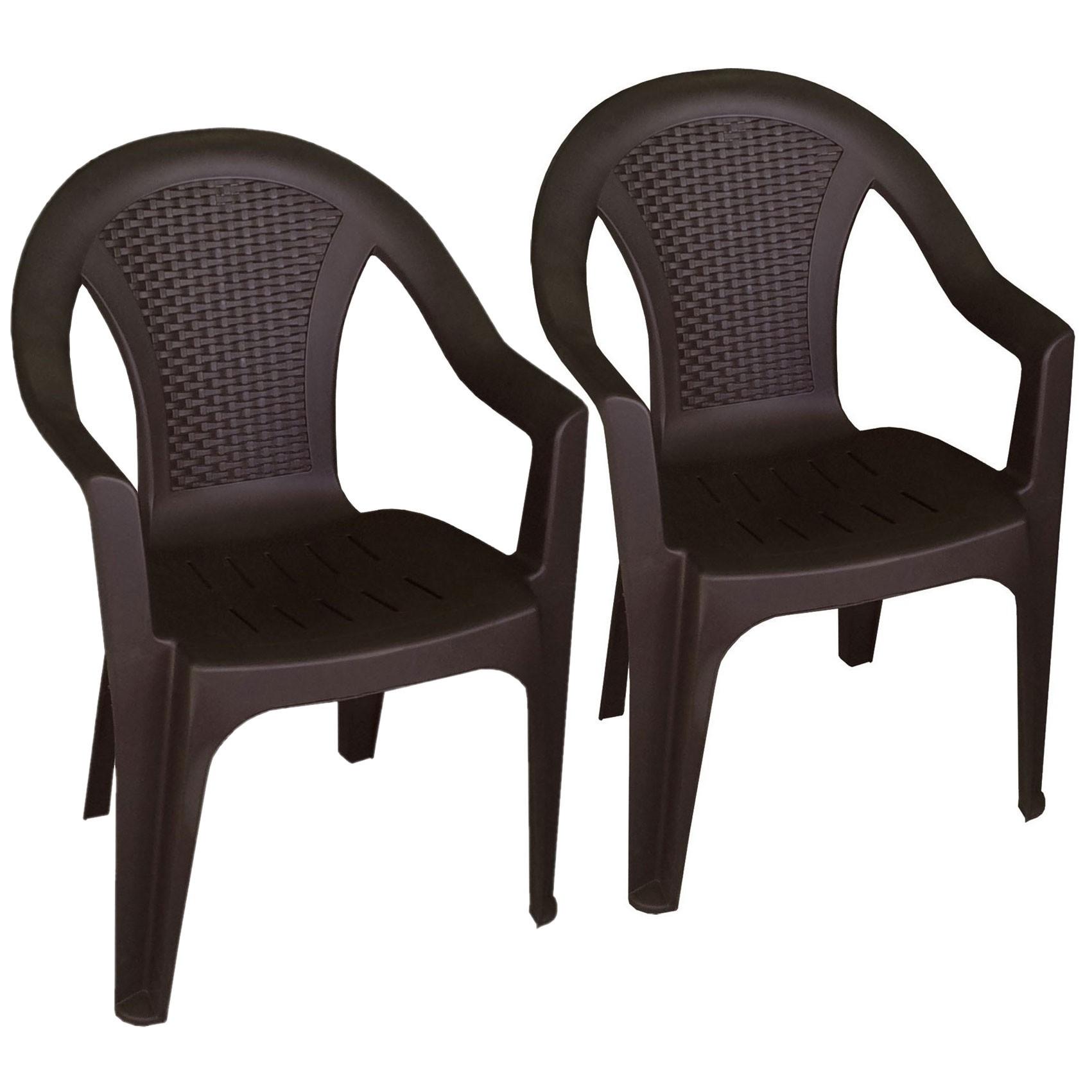 2 st ck stapelstuhl ischia mokka garten gartenm bel. Black Bedroom Furniture Sets. Home Design Ideas