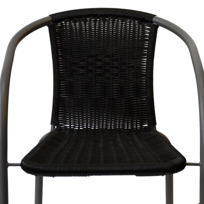 bistrostuhl stapelstuhl poly rattan schwarz grau garten gartenm bel gartenst hle stapelst hle. Black Bedroom Furniture Sets. Home Design Ideas