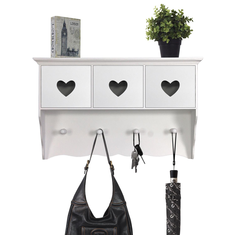 garderobe mit 3 schubf chern holz wei wohnen aufbewahrung und ordnung. Black Bedroom Furniture Sets. Home Design Ideas