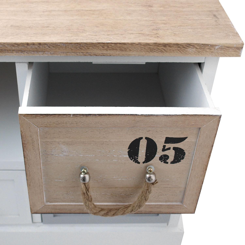 Schrank mit 5 schubladen 100x40x46 5cm wohnen kleinm bel for Schrank mit kleinen schubladen