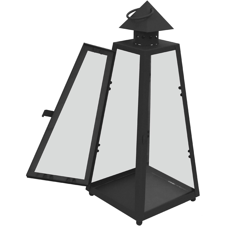 3er laternen set 30 40 53cm schwarz garten dekoration laternen und windlichter. Black Bedroom Furniture Sets. Home Design Ideas