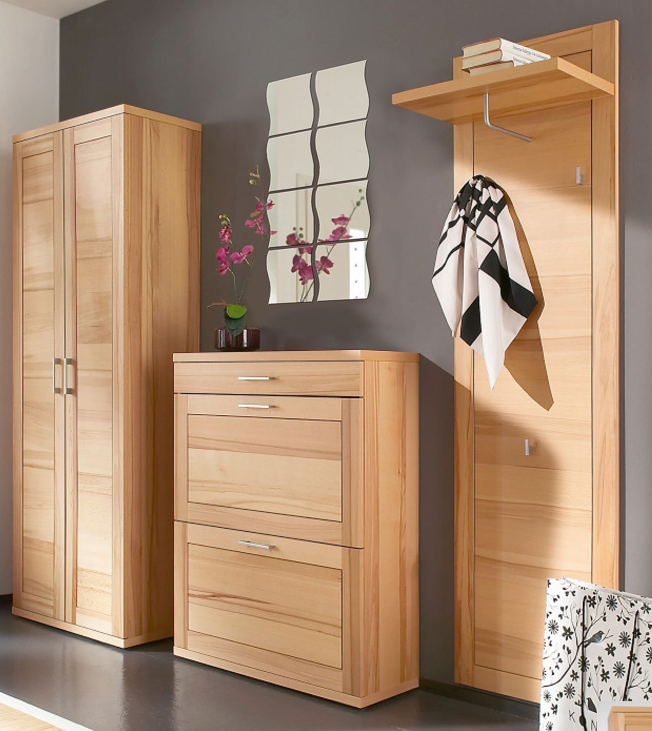 4x 4stk spiegelfliesen je 20x20cm in wellenform wohnen spiegel. Black Bedroom Furniture Sets. Home Design Ideas