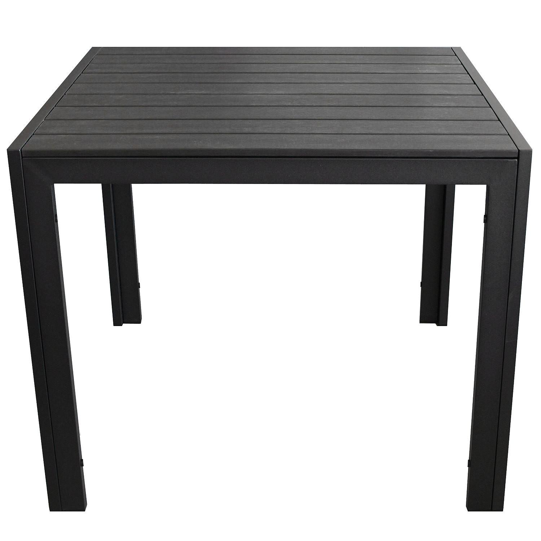 3tlg gartengarnitur 90x90cm 2x rattansessel schwarz. Black Bedroom Furniture Sets. Home Design Ideas