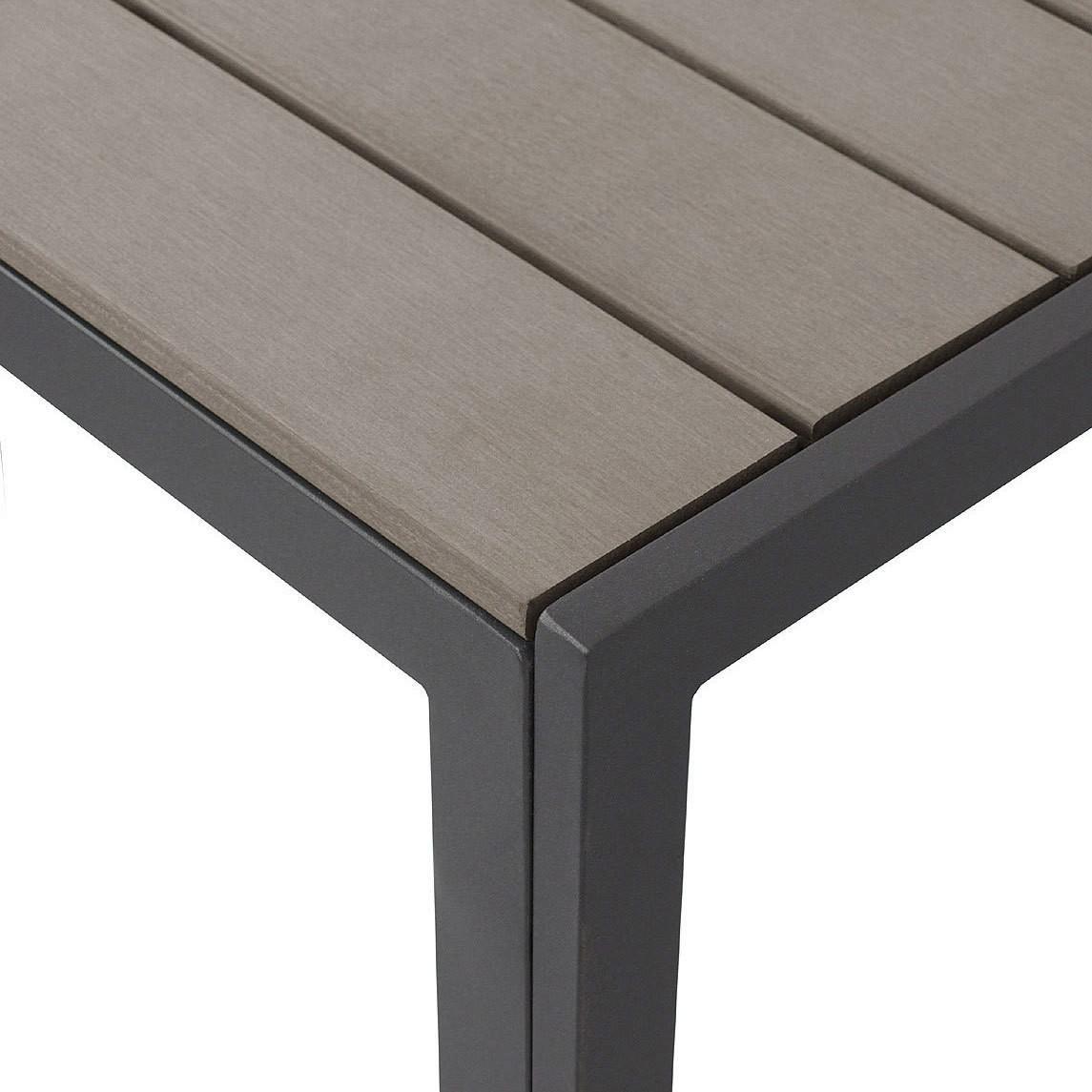 Elegant Gartentisch Aluminium / Polywood 205x90cm Smoked Grey U2013 Bild 3