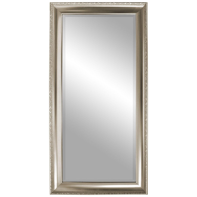 wandspiegel 101x51cm mit facettenschliff silbergold wohnen spiegel. Black Bedroom Furniture Sets. Home Design Ideas