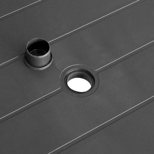 5tlg. Gartengarnitur 138x97cm + Stapelstuhl Kunststoff – Bild 3
