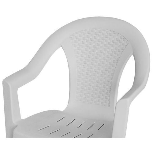 7tlg. Gartengarnitur 138x97cm + Stapelstuhl Kunststoff – Bild 3