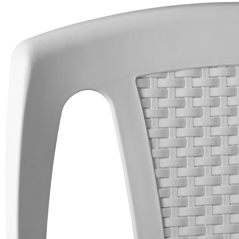 stapelstuhl 2x gartenstuhl sitzm bel gartenm bel weiss kunststoff. Black Bedroom Furniture Sets. Home Design Ideas