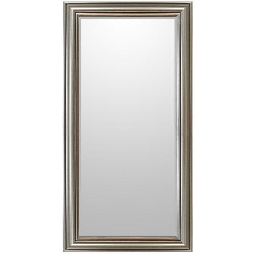 Wandspiegel 102x52cm Silber mit Goldstich strukturiert – Bild 1