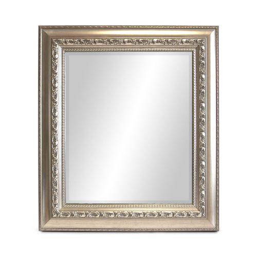 Wandspiegel 80x70cm mit Facettenschliff Silber mit Goldstich – Bild 2