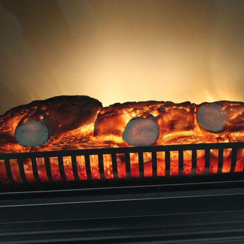 Elektrischer Kamin 1800W Edelstahl LED Feuereffekt – Bild 2