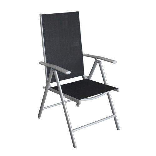 3tlg. Campingmöbel-Set Tisch + 2x Hochlehner – Bild 4
