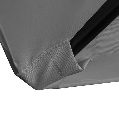 gartenschirm 3m h2 5m sonnenschirm kurbelschirm marktschirm sonnenschutz grau ebay. Black Bedroom Furniture Sets. Home Design Ideas